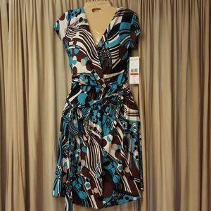Karen Kane mod print wrap dress